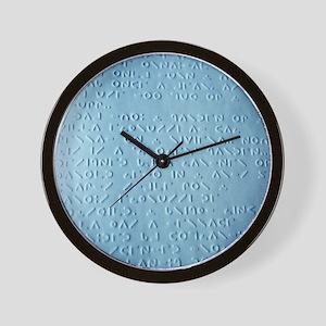 Moon braille - Wall Clock