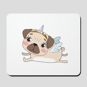 Unicorn Pug Mousepad