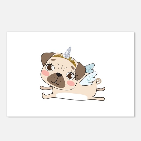 Unicorn Pug Postcards (Package of 8)