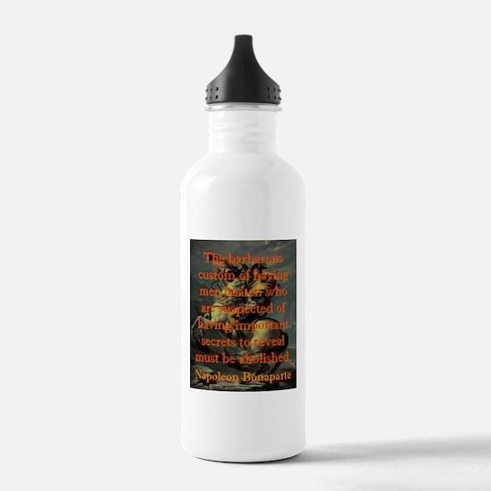 The Barbarous Custom - Napoleon Water Bottle