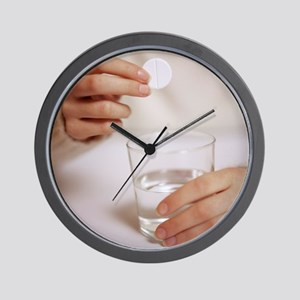 Soluble painkiller - Wall Clock