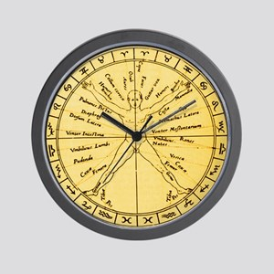 Astrological anatomy - Wall Clock