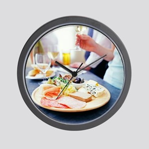 Cheese and meats - Wall Clock