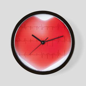 Heart and ECG - Wall Clock