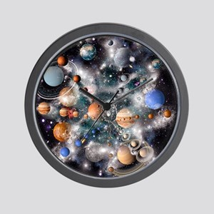 Solar system planets - Wall Clock