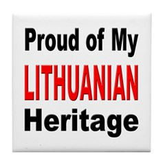 Proud Lithuanian Heritage Tile Coaster