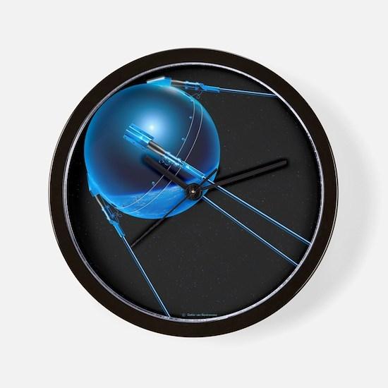 Sputnik 1 satellite - Wall Clock