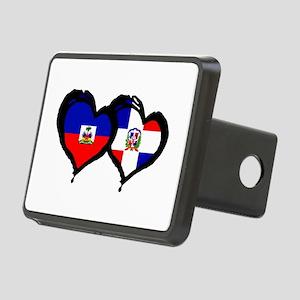 Haiti X Dominican Republic Rectangular Hitch Cover