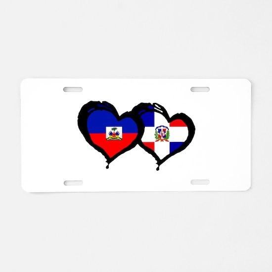 Haiti X Dominican Republic Aluminum License Plate