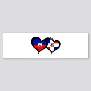 Haiti X Dominican Republic Sticker (Bumper)