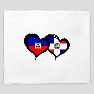 Haiti X Dominican Republic King Duvet