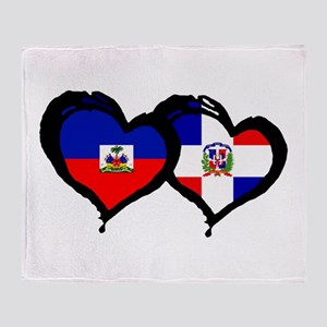 Haiti X Dominican Republic Throw Blanket