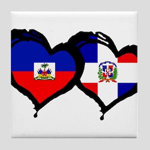 Haiti X Dominican Republic Tile Coaster