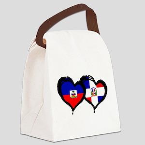 Haiti X Dominican Republic Canvas Lunch Bag