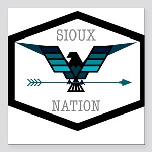 """Sioux Nation Square Car Magnet 3"""" x 3"""""""