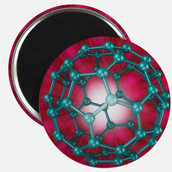 Buckminsterfullerene molecule, artwork - Magnet