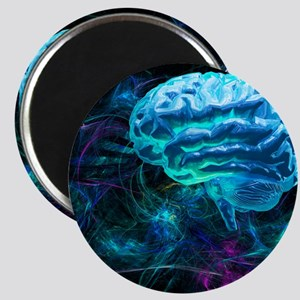 Brain research, conceptual artwork - Magnet