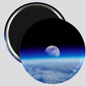 Moon rising over Earth's horizon - Magnet