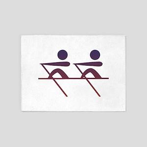 Rowing pictogram 5'x7'Area Rug