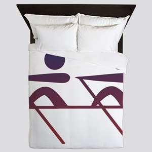 Rowing pictogram Queen Duvet