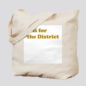 D is for the District Tote Bag