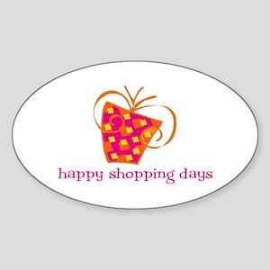Happy Shopping Days Oval Sticker