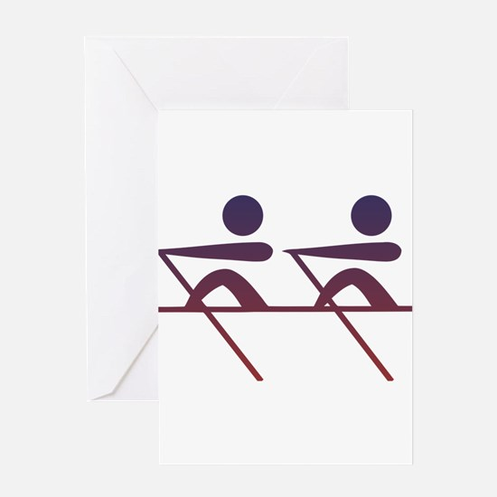 Rowing pictogram Greeting Cards