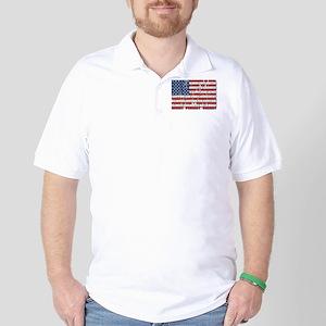 Political Protest American Flag Golf Shirt
