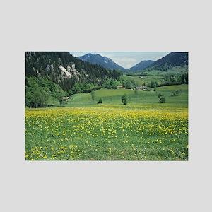 Alpine meadow - Rectangle Magnet