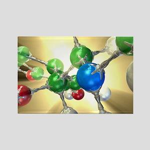 Adrenaline hormone molecule - Rectangle Magnet