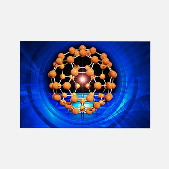 Buckminsterfullerene molecule - Rectangle Magnet
