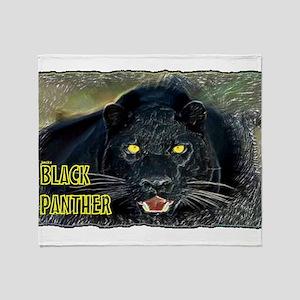 black panther art illustration Throw Blanket
