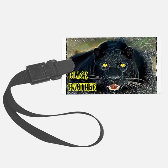 black panther art illustration Luggage Tag