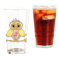 Paisley Owl Drinking Glass