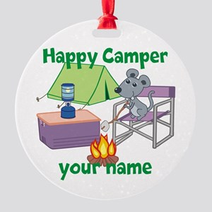 Custom Happy Camper Mouse Ornament