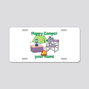 Custom Happy Camper Mouse Aluminum License Plate