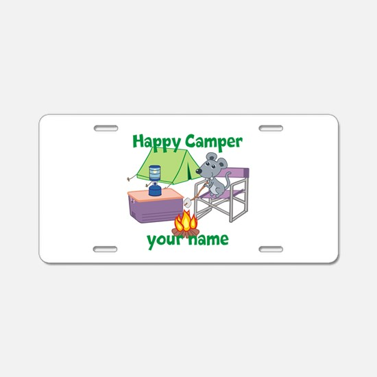 Custom Happy Camper Mouse Aluminum License Plate