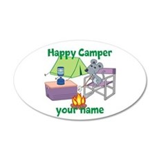 Custom Happy Camper Mouse Wall Decal