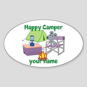 Custom Happy Camper Mouse Sticker