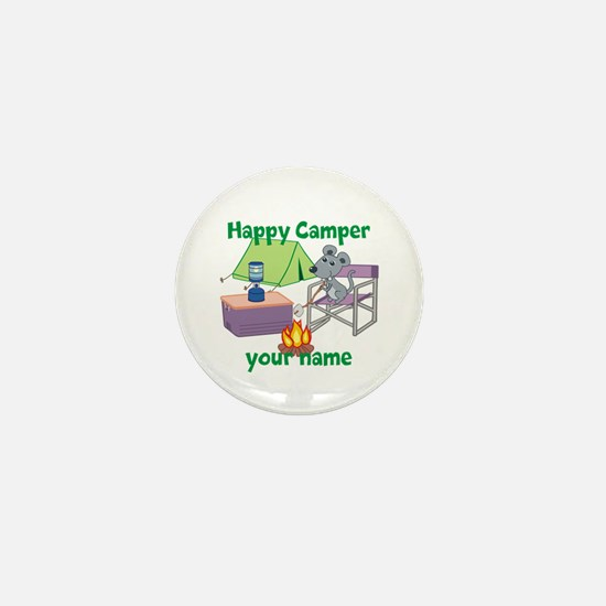 Custom Happy Camper Mouse Mini Button