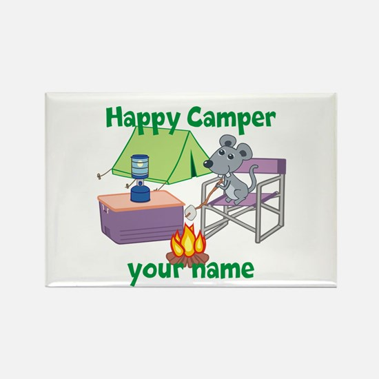 Custom Happy Camper Mouse Rectangle Magnet