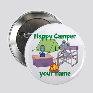 """Custom Happy Camper Mouse 2.25"""" Button"""