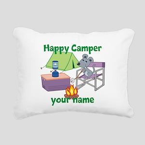 Custom Happy Camper Mouse Rectangular Canvas Pillo