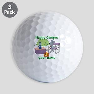 Custom Happy Camper Mouse Golf Ball