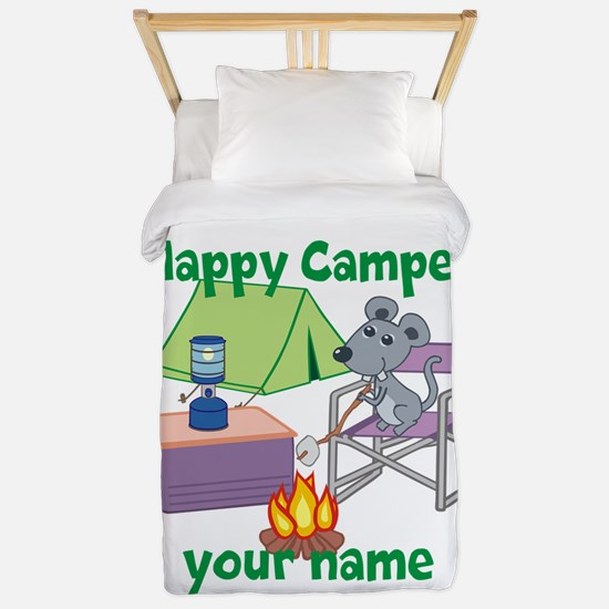 Custom Happy Camper Mouse Twin Duvet