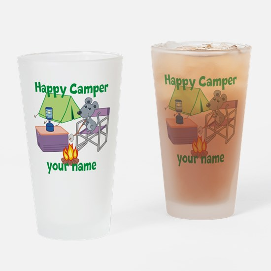 Custom Happy Camper Mouse Drinking Glass