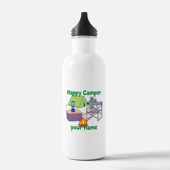 Custom Happy Camper Mouse Water Bottle