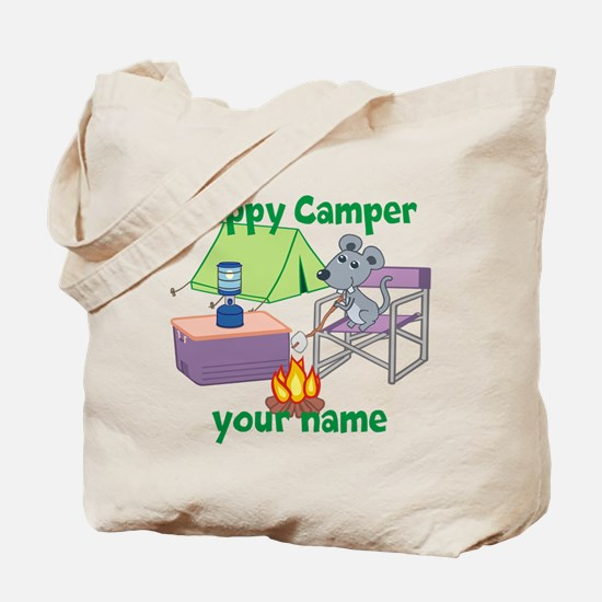 Custom Happy Camper Mouse Tote Bag