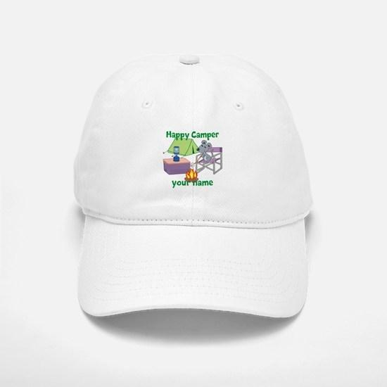 Custom Happy Camper Mouse Baseball Baseball Baseball Cap