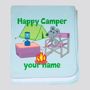 Custom Happy Camper Mouse baby blanket